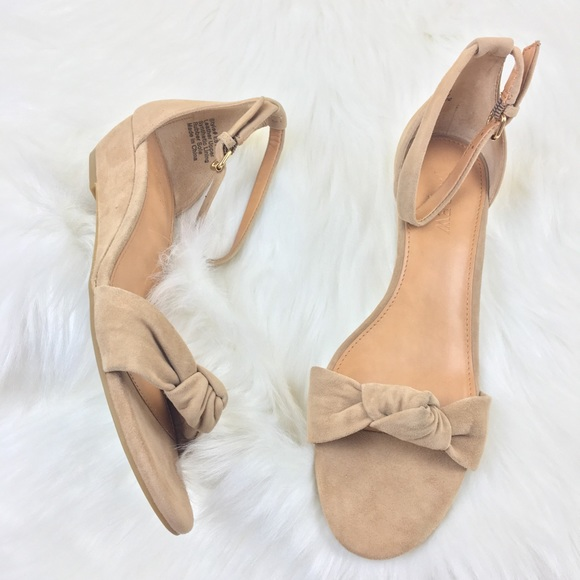 f06f0929f4716 J. Crew Shoes | J Crew Factory Suede Wedge Heel Sandals Size 75 ...